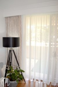 Blockout & sheer curtains under false pelmet