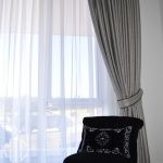 Blockout & sheer curtains with tiebacks