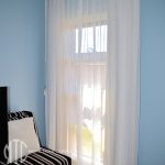 White box pleat sheer curtains