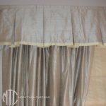 Trimmed box pleat valance