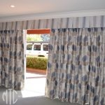 Box pleat valance with blockout curtains
