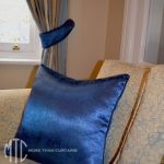 Royal blue piped cushions - Epping
