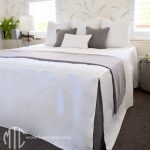 tailored bedspread with throw & cushions