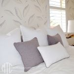 Grey & White piped cushions - Mosman