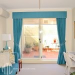 Blockout curtains with pelmet