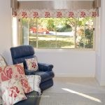 Roman blinds & pelmets on bay window