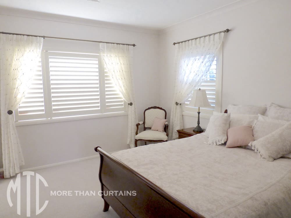 Plantation Shutters With Sheer Curtains Cherrybrook