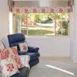 Roman blinds & pelmets on bay window