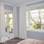 White s-fold curtains