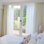 White sheer curtains with seperate lining