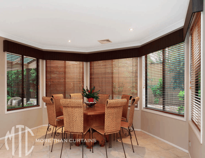 Timber Venetian Blinds In A Bay Window More Than Curtains
