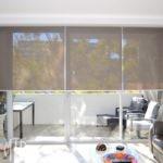 Translucent roller blinds forward rolled