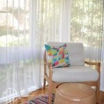Box pleat sheer curtains