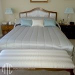 channel quilted bedspread with sham