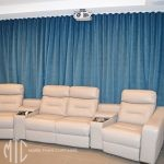 S-fold Media Room curtains