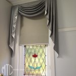 Roller blind with swags & tails