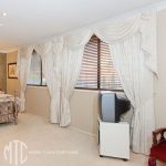 Blockout curtains with swags & tails