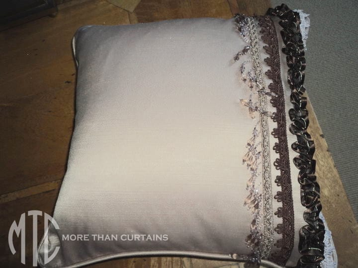 trimmed cushion