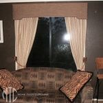 Blockout Curtains with shaped pelmet