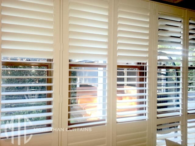Wall Of Plantation Shutters 2 More Than Curtains
