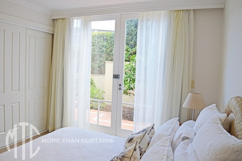 Ivory sheer curtains with blockout lining