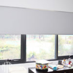 Grey blockout roller blind