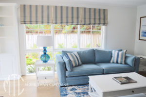 Patterned Roman blind - Frenchs Forest