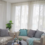 S-fold sheer curtains - Wentworthville