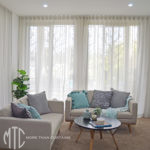 Grey s-fold sheer curtains