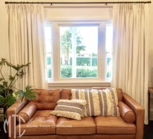 pinch pleat curtains on rod with rings - Baulkham Hills
