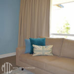 Box pleat curtains on a rod - Winston Hills