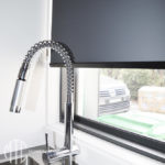 Charcoal blockout roller blind