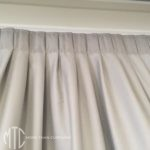 Knife pleat lining curtain