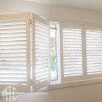 White PVC bifold shutters