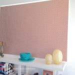Orange bonded roller blind