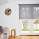 Grey screen roller blinds
