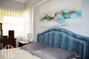 Upholstered bedhead with inset piping - Strathfield South