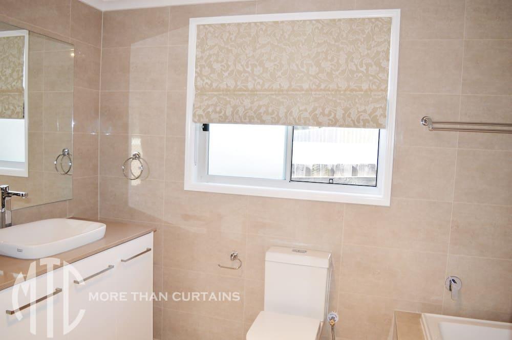 Bathroom Roman Blind Kellyville More Than Curtains - Roman blind bathroom