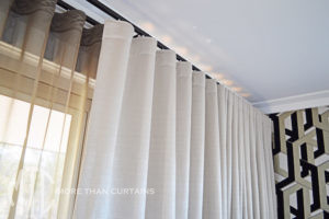 Double s-fold curtain heading