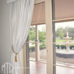 Blockout curtains with painted timber pelmets