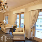 Curtains with painted timber pelmets