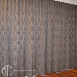 Patterned s-fold curtains