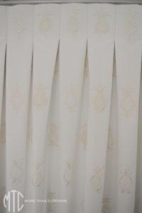 Pleat to pattern box pleat curtain
