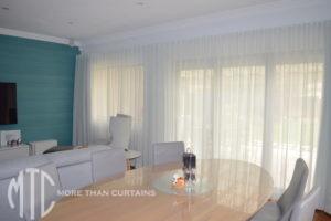 S-fold sheer curtain