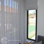 Sheer s-fold curtains with Roman Blind coordinate