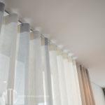 Sheer s-fold curtain heading