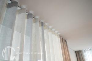 silver Sheer s-fold heading- Bella Vista