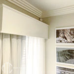 White painted pelmet with moulding