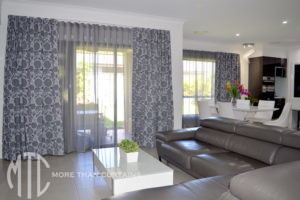 Sheer & blockout double s-fold curtains