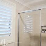 White aluminium shutters